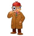 detective boy vector image vector image