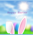 easter bunny ears on defocussed background vector image vector image