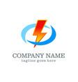electric logo design vector image