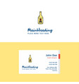 flat drink bottle logo and visiting card template vector image vector image