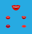 flat icon mouth set of mouth laugh smile and vector image vector image