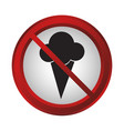 forbidden signs design vector image