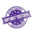 grunge textured northwest territories stamp seal vector image