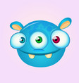 happy cartoon alien vector image