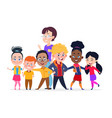 happy international students group friendship vector image vector image