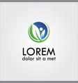herb leaf logo vector image vector image