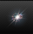 lens flare effect round isolated vector image