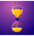 light bulb and sand clock creative idea for vector image