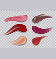 lipstick smudge realistic make-up product vector image