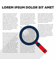 Magnified glass with document flat design vector image vector image