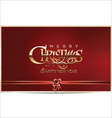 Merry Christmas red background vector image vector image