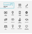 Modern resume simple thin line design icons vector image vector image
