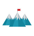 mountains with flag isolated icon vector image vector image