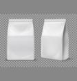 paper snack bag food blank white sachet vector image