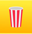 popcorn round box empty packaging movie cinema vector image vector image