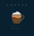 poster coffee macchiato vector image