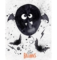 Poster halloween balloon vector image