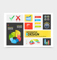 realistic infographic elements colorful concept vector image vector image