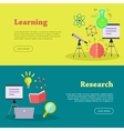 Research and Learning Web Banners vector image vector image