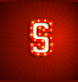retro style letter s vector image