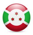Round glossy icon of burundi vector image vector image