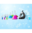 Scientific laboratory background vector image