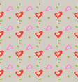 seamless pattern romantic love print colorful vector image vector image