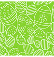 seamless pattern with easter eggs on green vector image