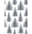 seamless pattern with hand drawn winter vector image