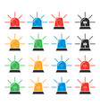 set emergency and police siren icons vector image