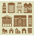 set houses icons vector image vector image