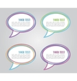 Set of colorful speech bubbles vector image vector image