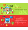 Set of education and e-learning concept banners vector image vector image