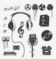 set of symbols musical instrument vector image