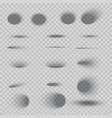 set oval shadows vector image