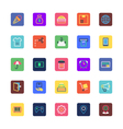 Shopping and eCommerce Colored Icons 2 vector image vector image