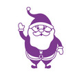 silhouette santa claus with christmas suit and vector image vector image
