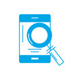 silhouette smartphone technology information with vector image vector image
