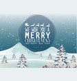snow falling down on mountain from winter vector image vector image