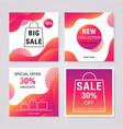 social media sale banners set bright fluid vector image