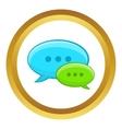 Speech bubble conversation icon vector image vector image