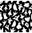 spooky ghost halloween holiday seamless pattern vector image vector image