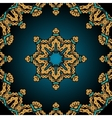 Stylized flower and frame border in Tibet tribal vector image vector image