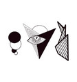stylized minimal tattoo clip art geometrical vector image vector image