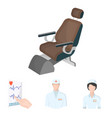 the attending physician the nurse the cardiogram vector image