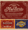 vintage fonts bundle vector image
