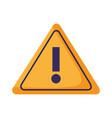 warning caution signal vector image