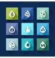 Water drop icons in flat design style vector image