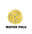 water polo ball logo for team and cup vector image vector image