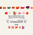 watercolor workshop banner for presentation vector image vector image